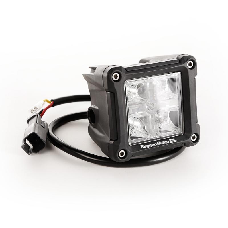 Rugged Ridge 15209.3 Light Kit, 3 Inch, LED, Cube, Combo High/Low Beam