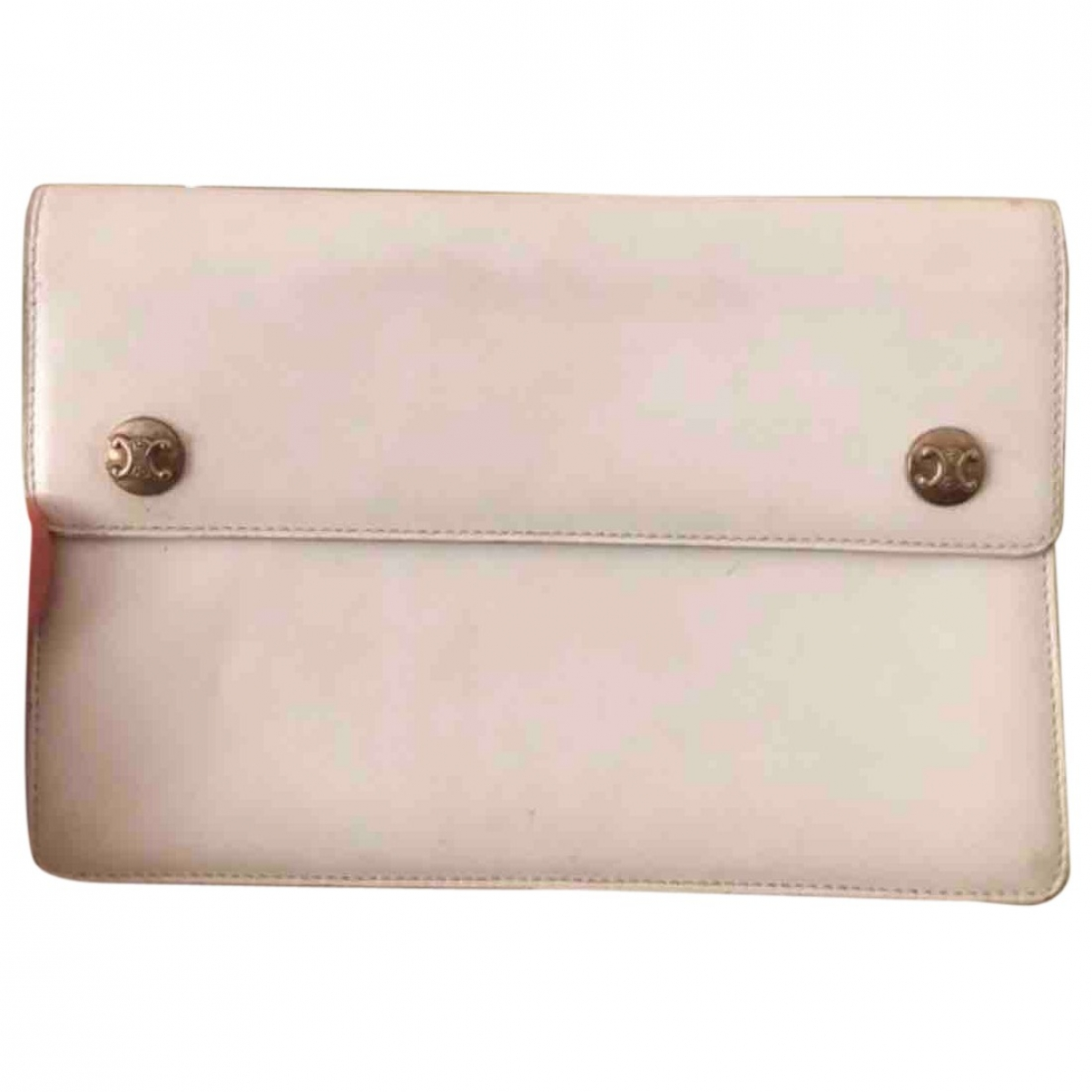Celine \N White Leather Clutch bag for Women \N