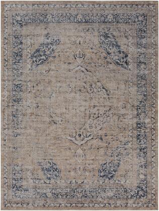 Durham DUR-1003 9' x 12' Rectangle Traditional Rug in Beige  Khaki  Medium Gray  Charcoal