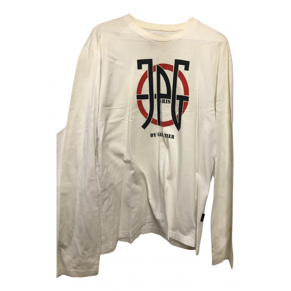 Jean Paul Gaultier - Tee shirts   pour homme en coton - blanc