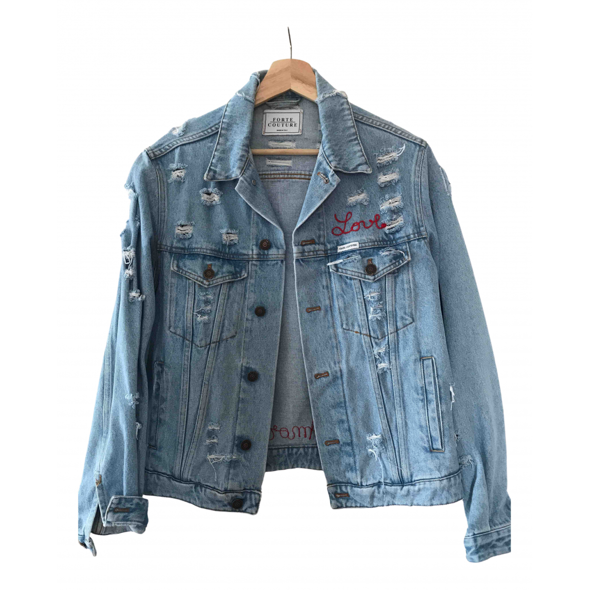 Forte Couture \N Blue Denim - Jeans jacket for Women 38 IT