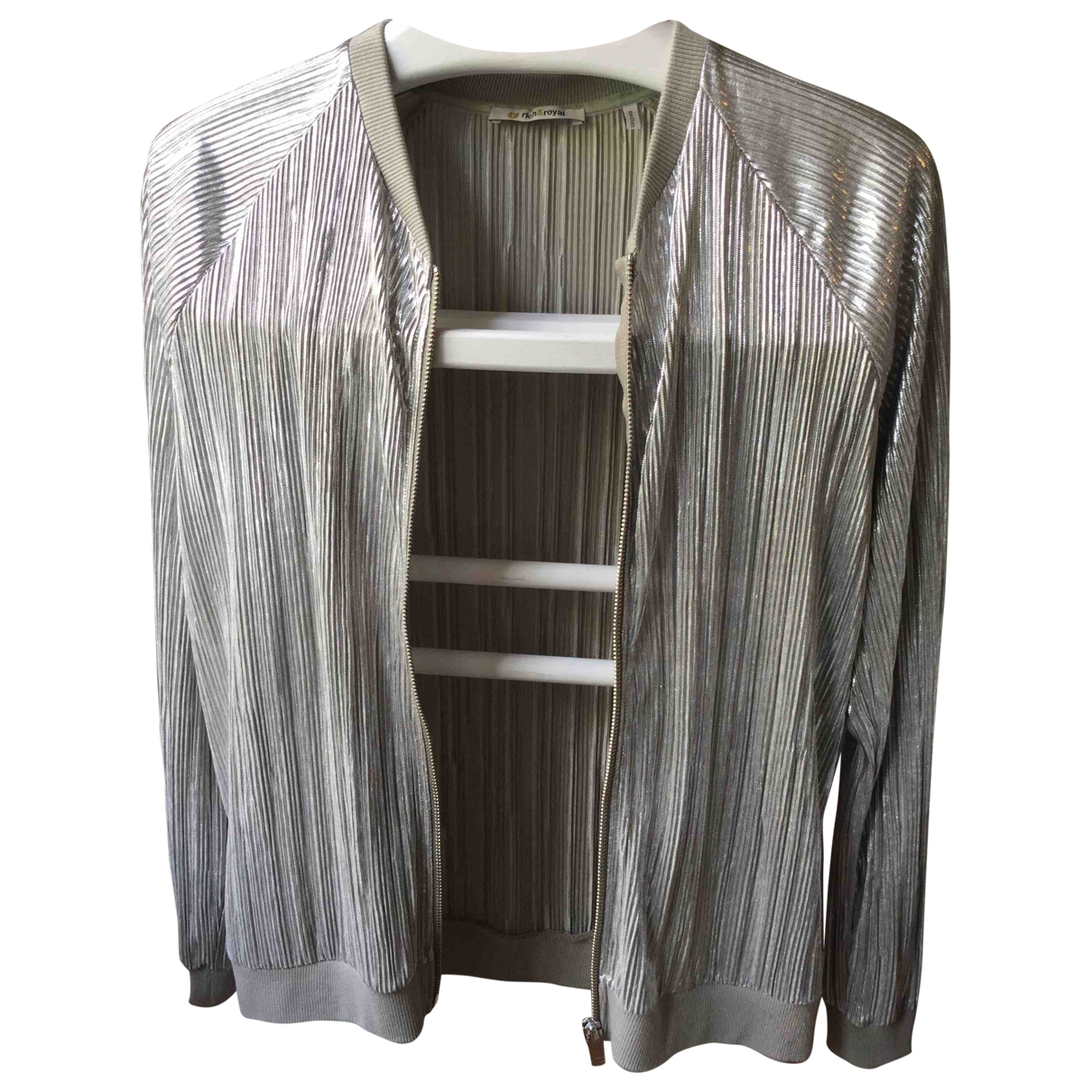 Non Signé / Unsigned \N Silver jacket for Women M International
