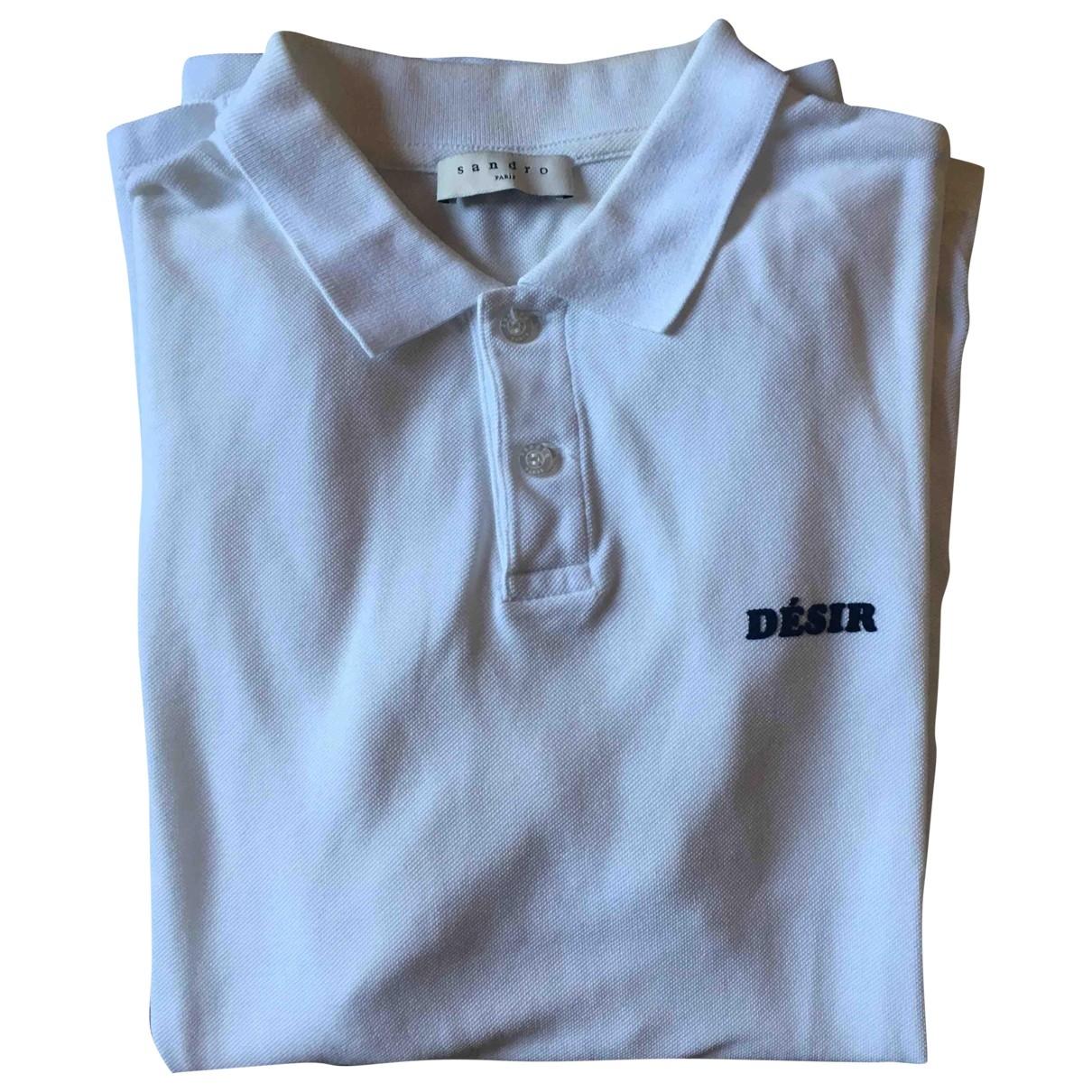 Sandro - Polos   pour homme en coton - blanc
