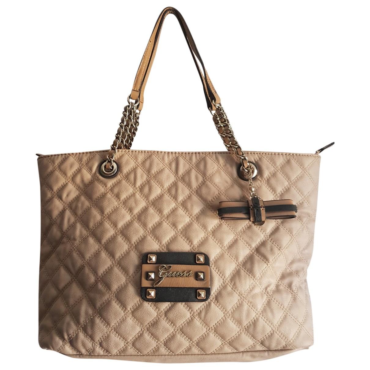 Guess \N Handtasche in  Beige Synthetik