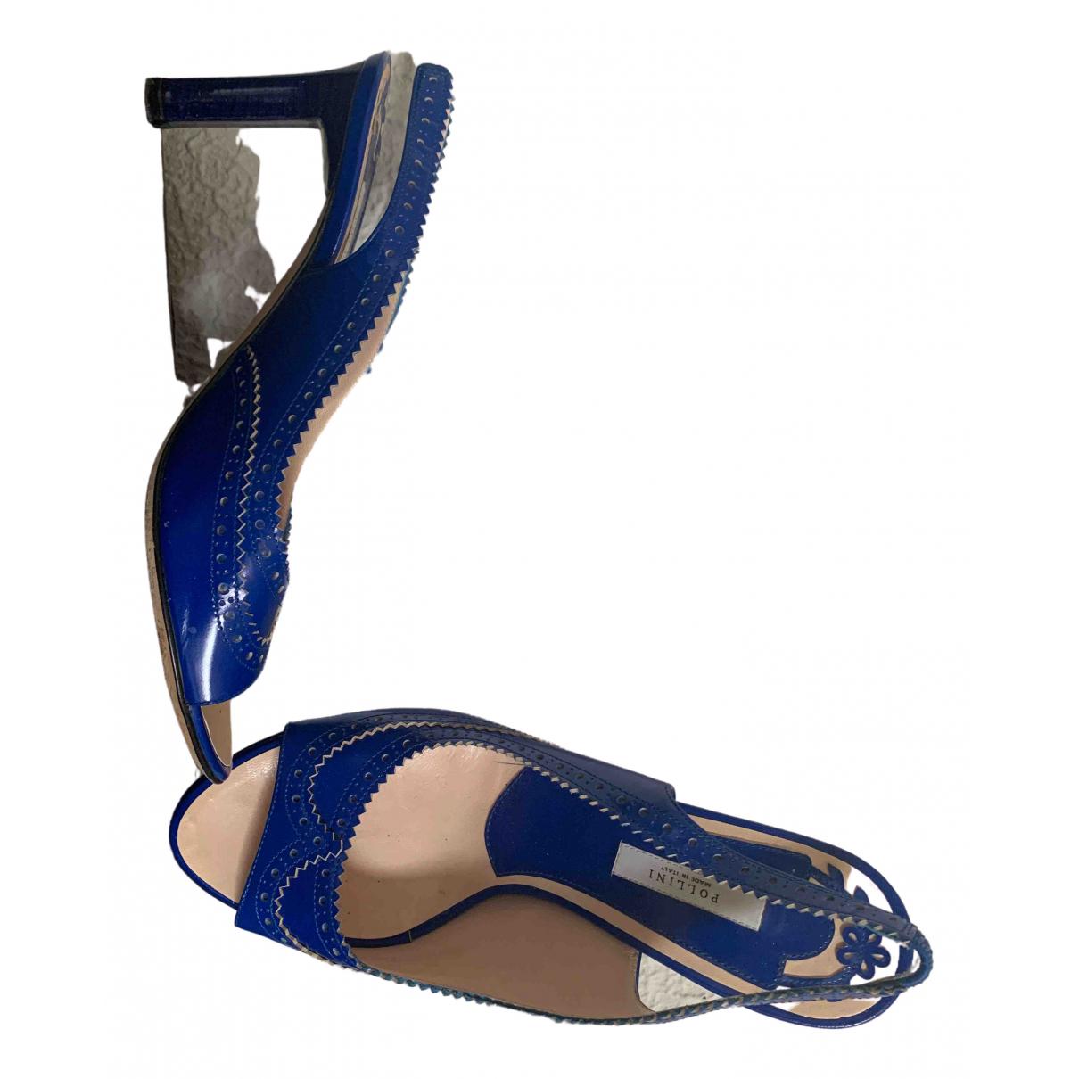 Sandalias romanas de Cuero Pollini