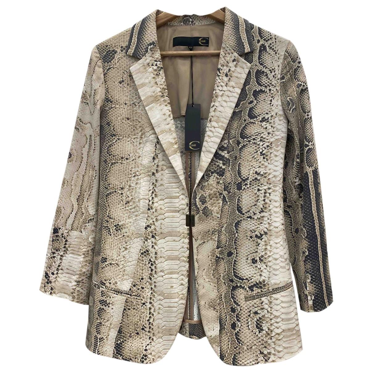 Just Cavalli - Veste   pour femme en coton - beige