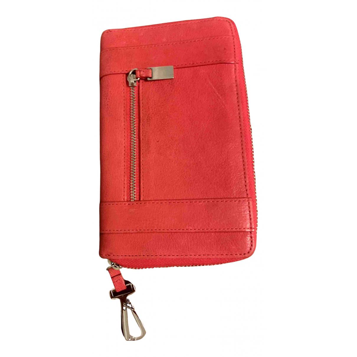 Boss \N Portemonnaie in  Rot Leder