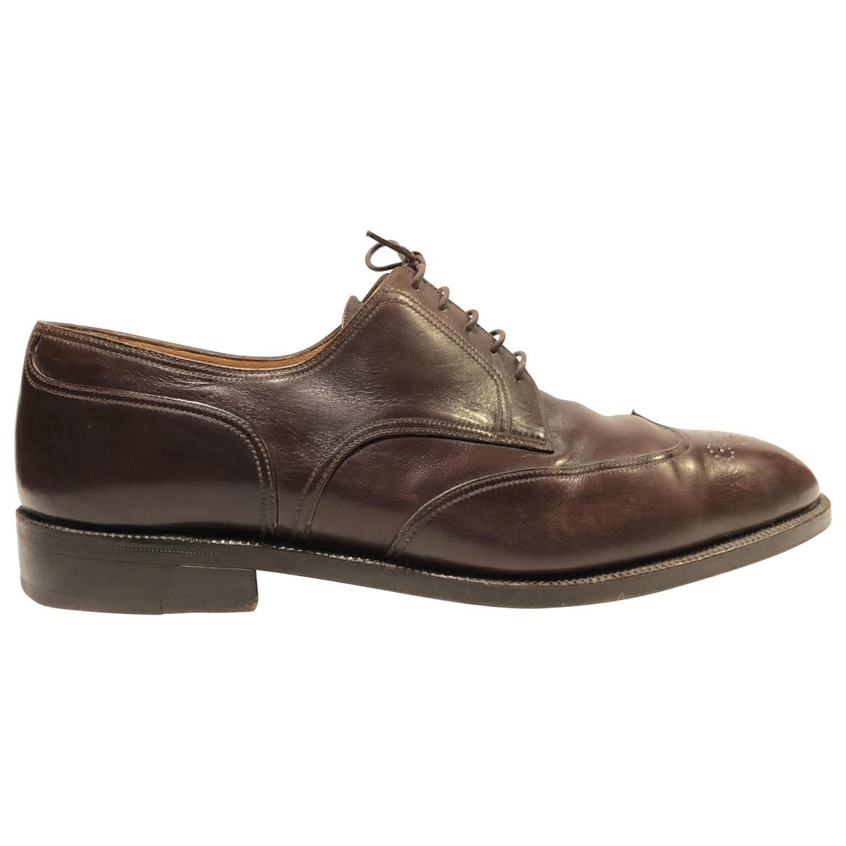 A. Testoni - Derbies   pour homme en cuir - marron