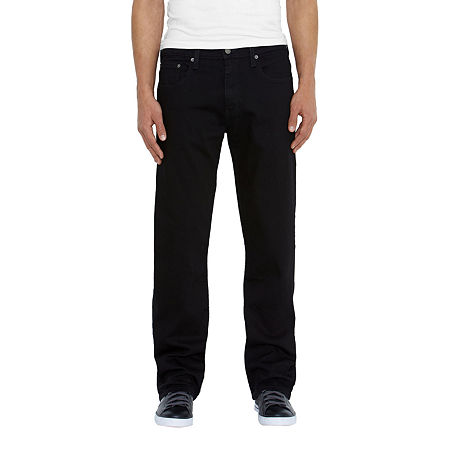 Levi's Mens 569 Loose Fit Straight Jean, 32 34, Black