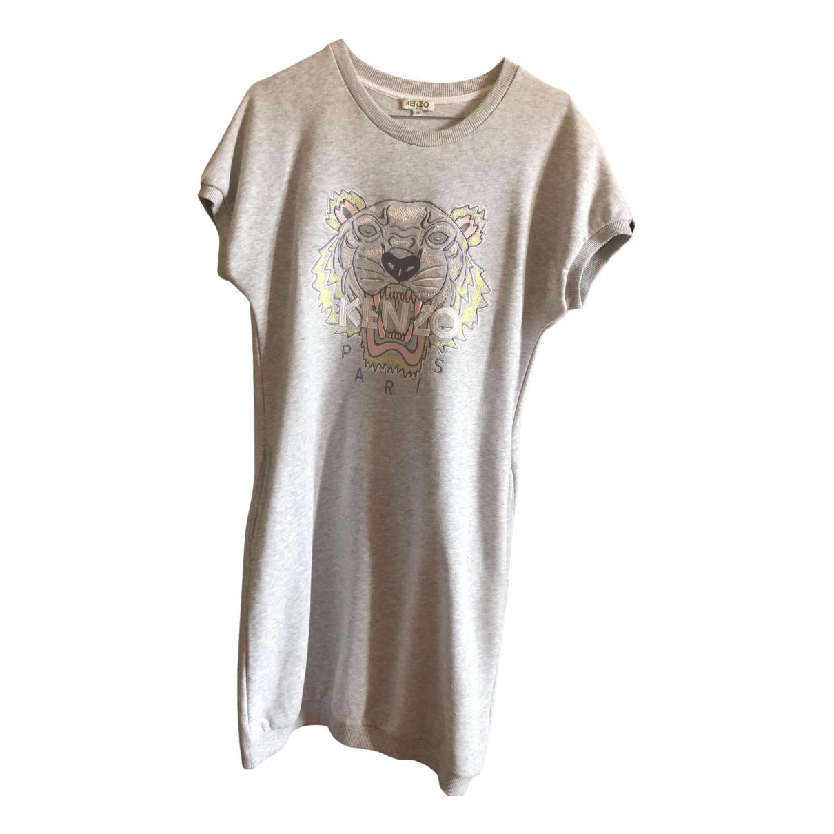 Kenzo \N Kleid in  Grau Baumwolle - Elasthan