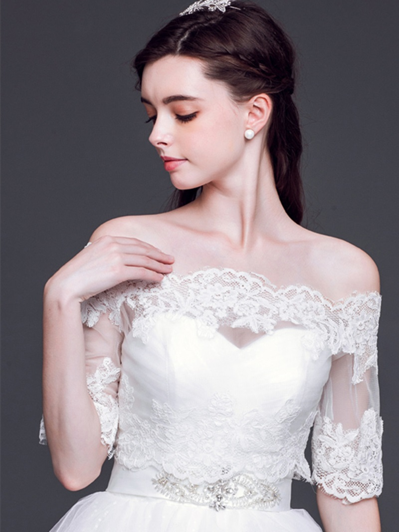 Simple Off the Shoulder Wedding Wrap