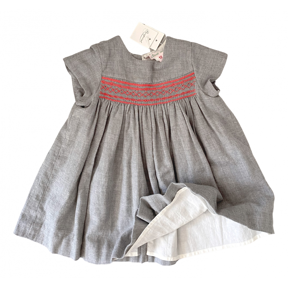 Bonpoint \N Grey Cotton dress for Kids 12 months - up to 74cm FR