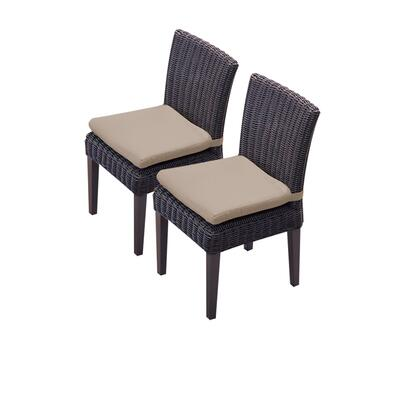 TKC094b-ADC-C 2 Venice Armless Dining Chairs with 1 Cover in