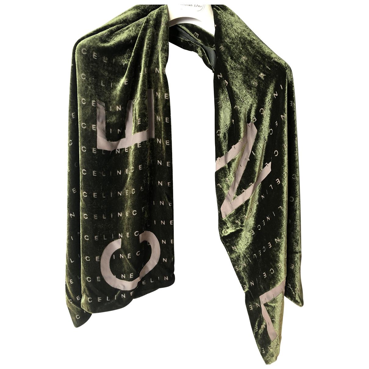 Celine - Foulard   pour femme en velours - vert