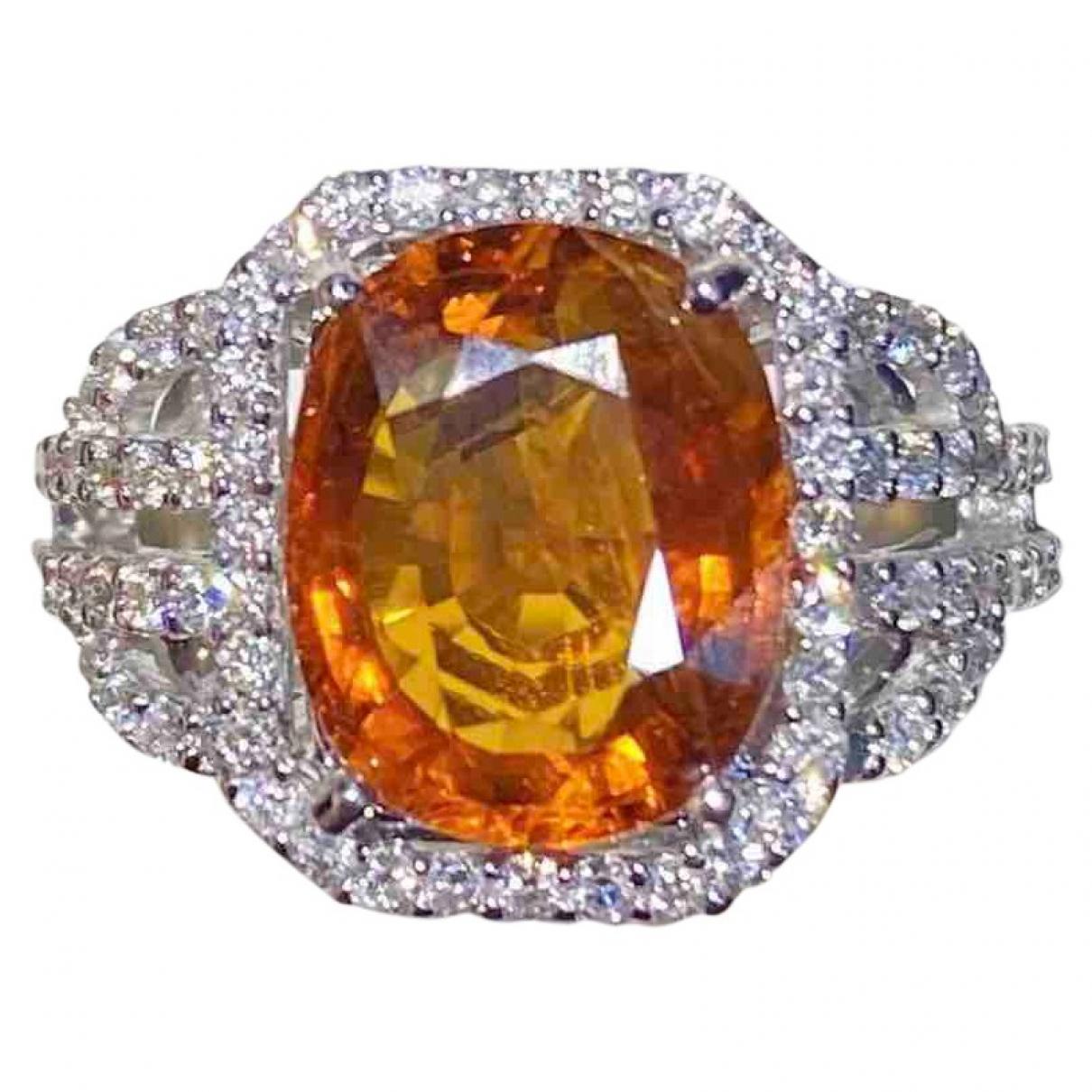 - Bague Saphir pour femme en or blanc - argente
