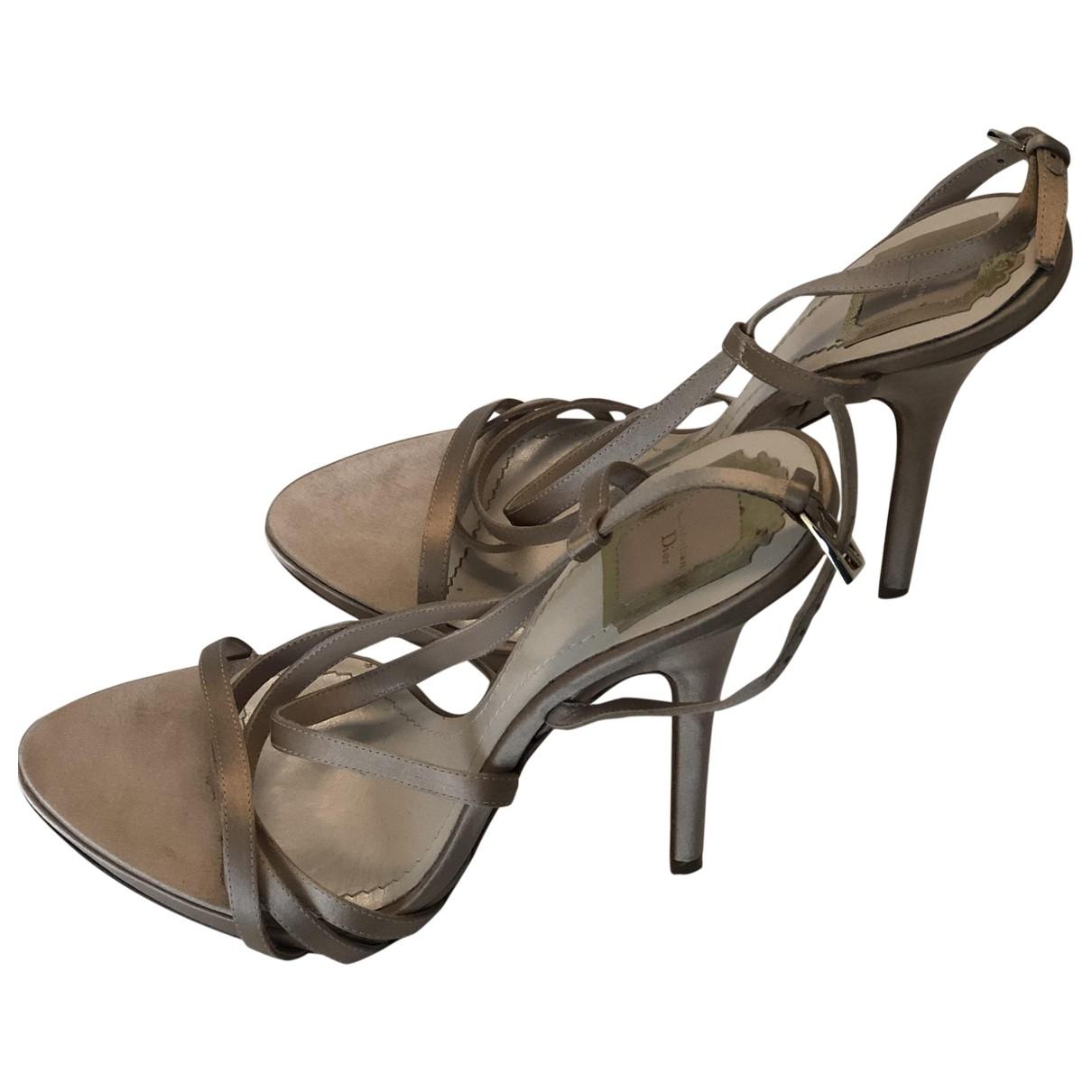 Dior \N Beige Leather Sandals for Women 41 EU