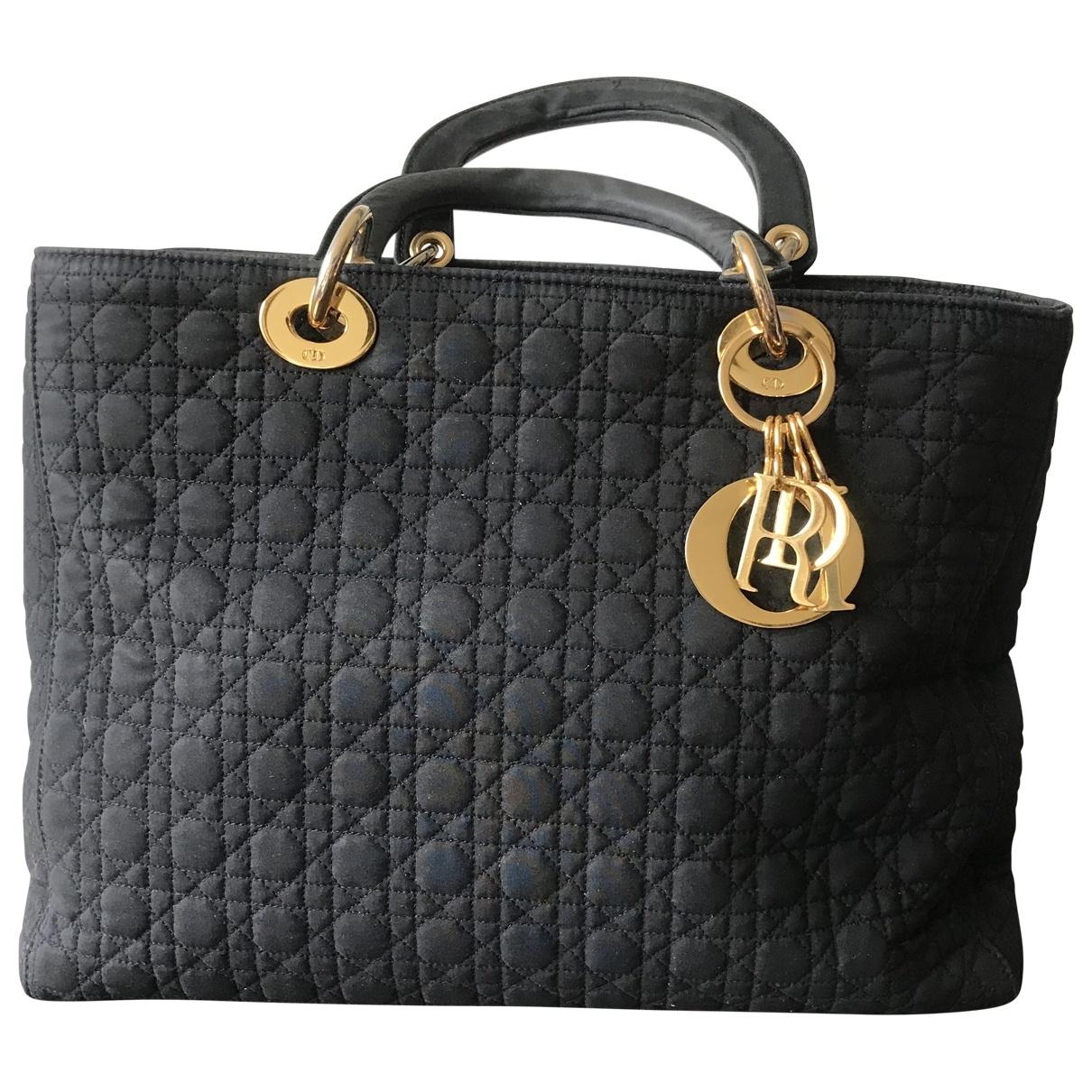 Dior Diorissimo Black Cloth handbag for Women \N
