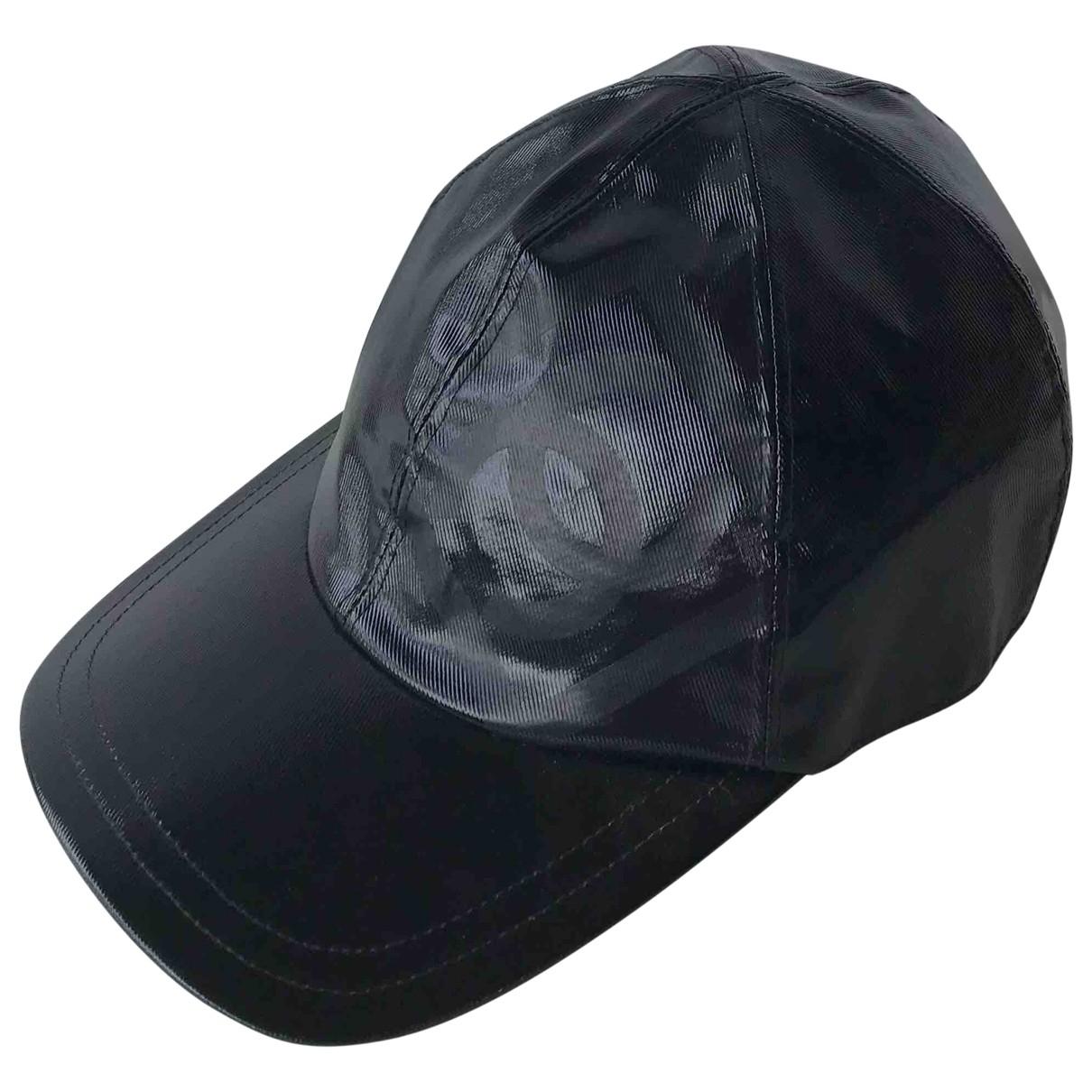 Chanel - Chapeau   pour femme en coton - noir