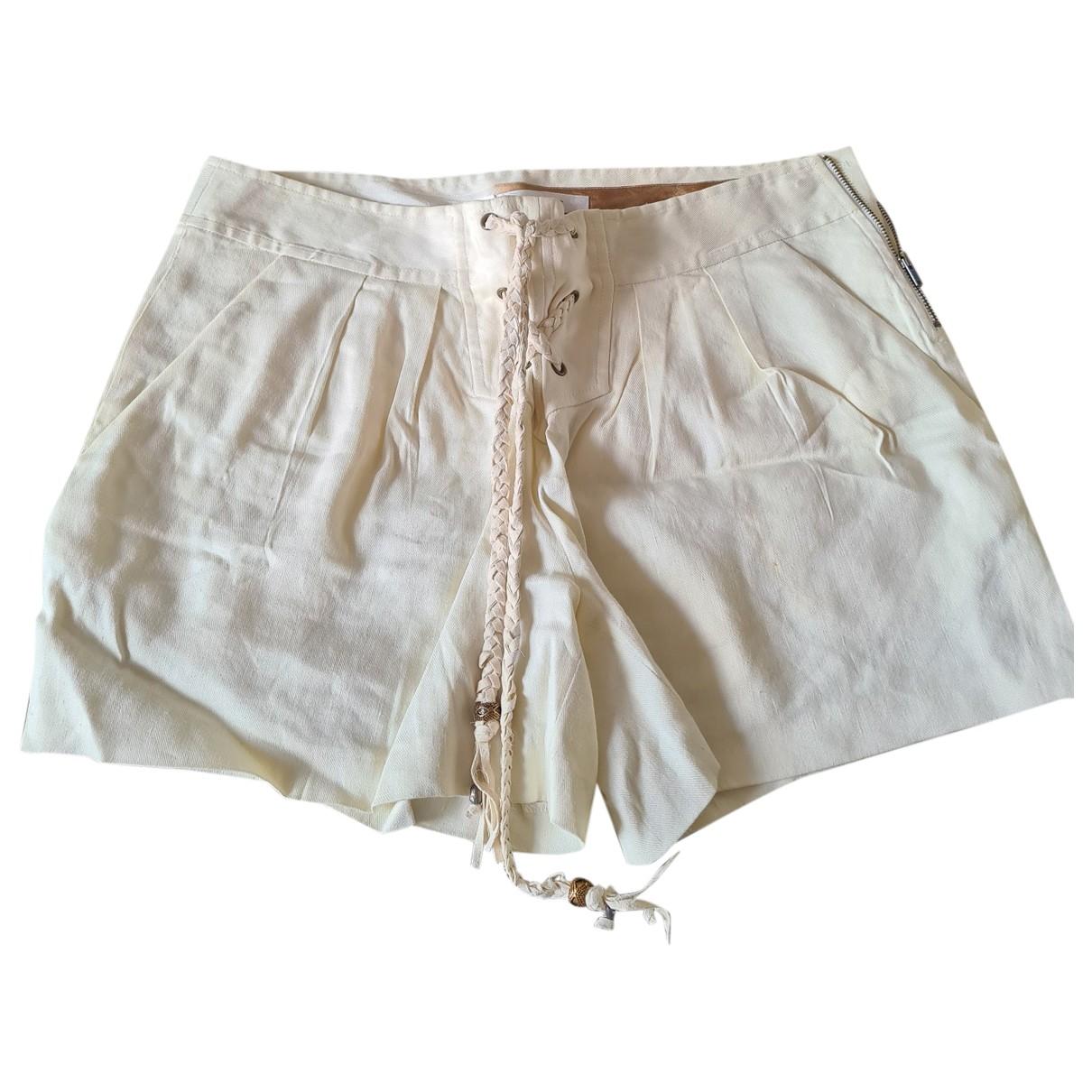 Diane Von Furstenberg \N Shorts in  Ecru Leinen