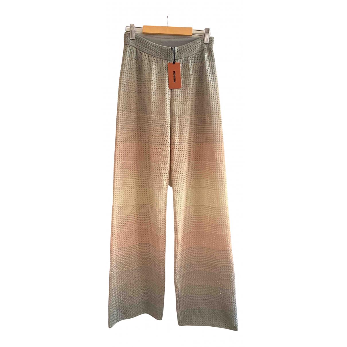 M Missoni \N Beige Trousers for Women 42 IT