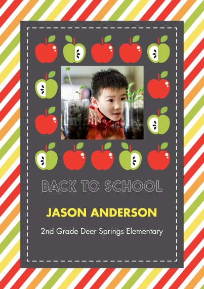 Back to School 5x7 Cards, Premium Cardstock 120lb with Rounded Corners, Card & Stationery -Smart Apples