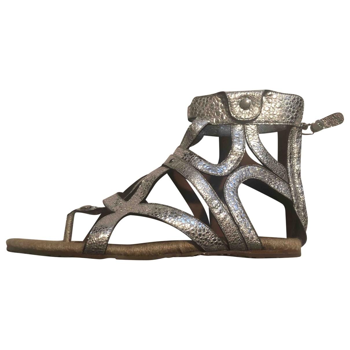 Dolce & Gabbana \N Silver Leather Sandals for Women 39 EU