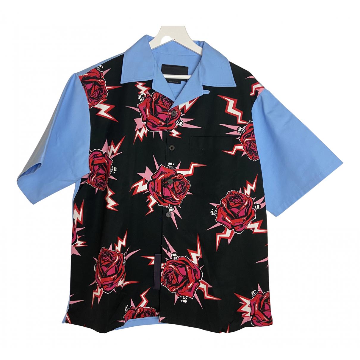 Prada N Multicolour Cotton Shirts for Men M International