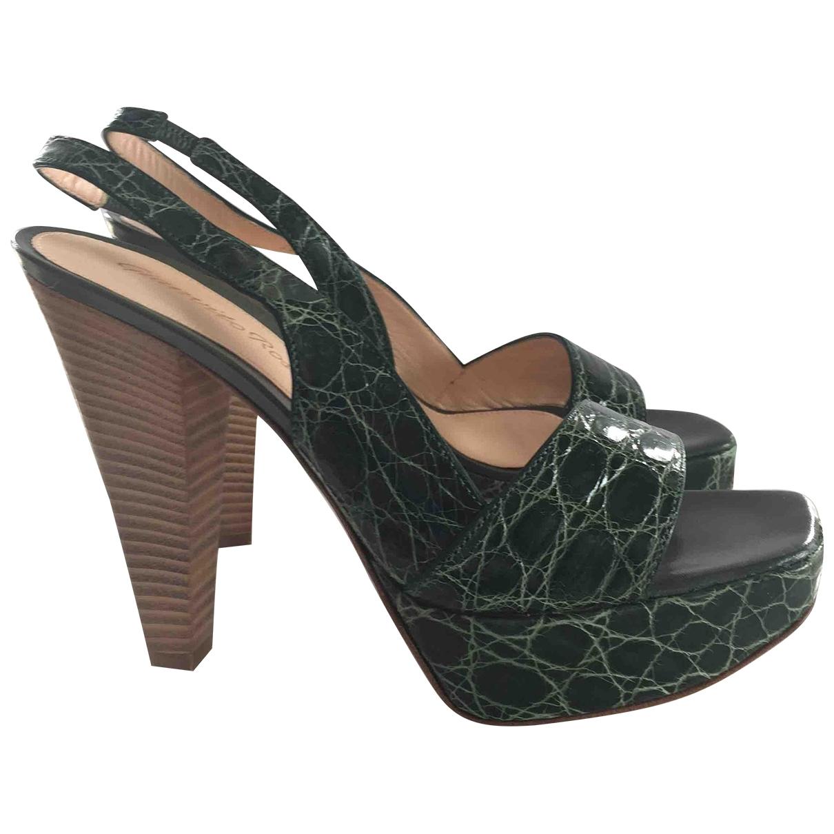 Gianvito Rossi - Sabots   pour femme en cuir - vert