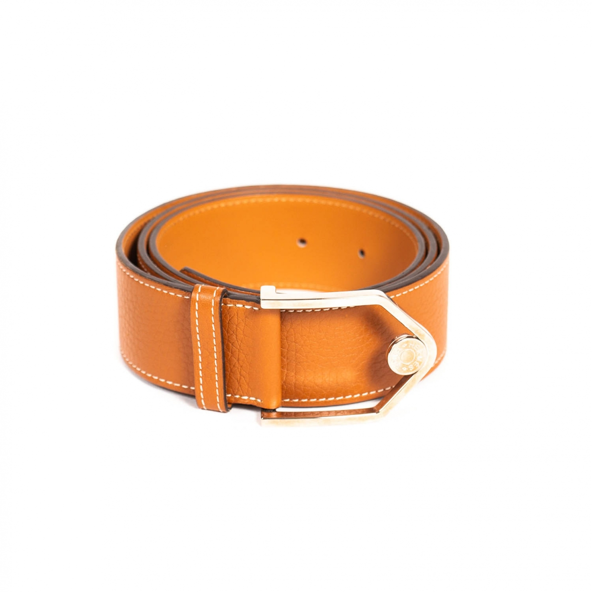 Hermès Belt Camel Leather belt for Men 100 cm