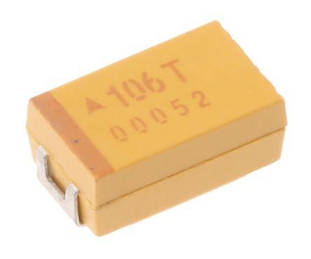 AVX Tantalum Capacitor 10μF 50V dc MnO2 Solid ±10% Tolerance , TAJ