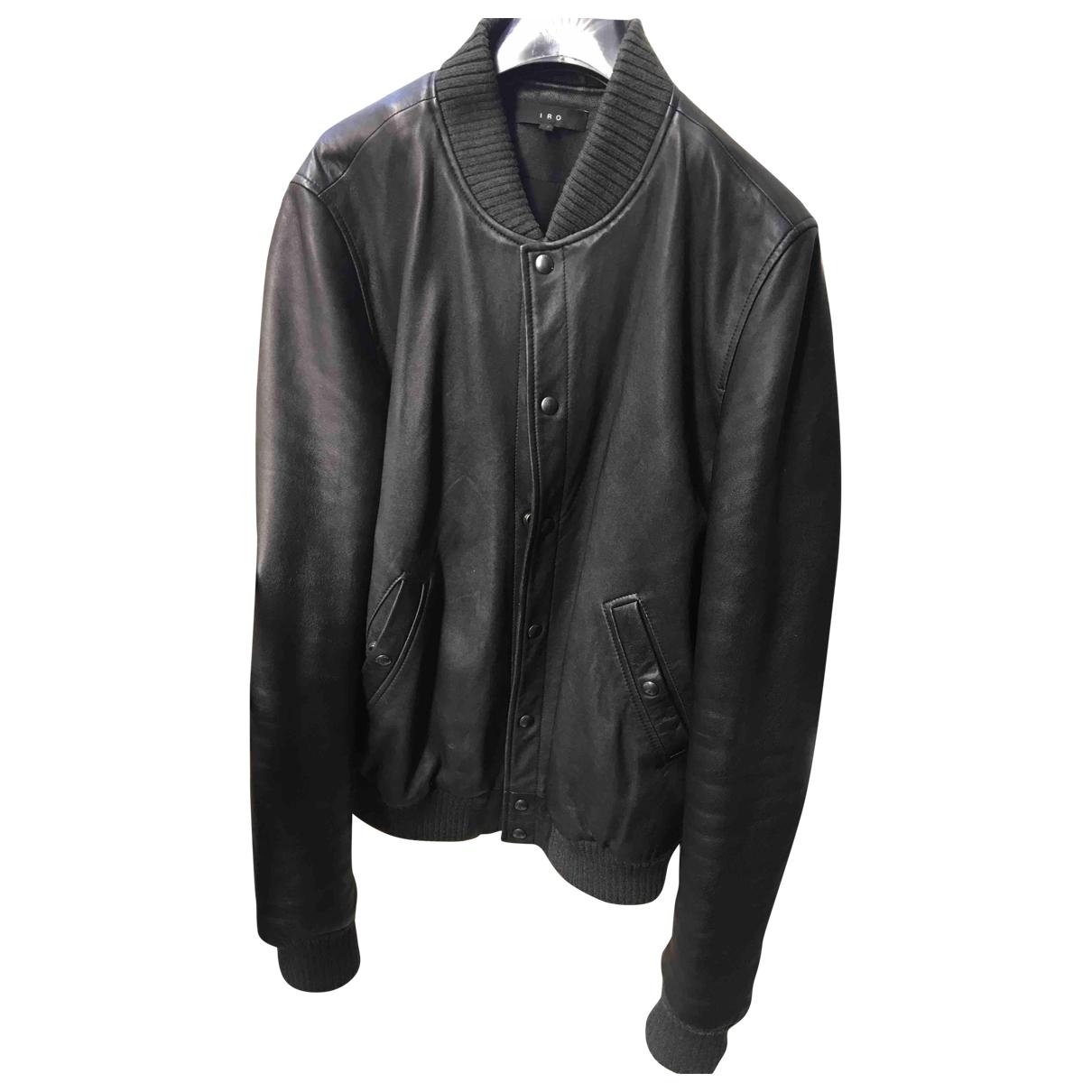 Iro \N Black Leather jacket  for Men 44 FR