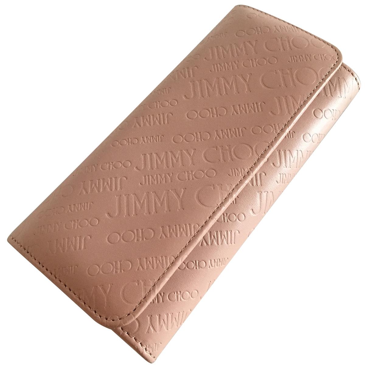 Jimmy Choo \N Portemonnaie in  Beige Leder
