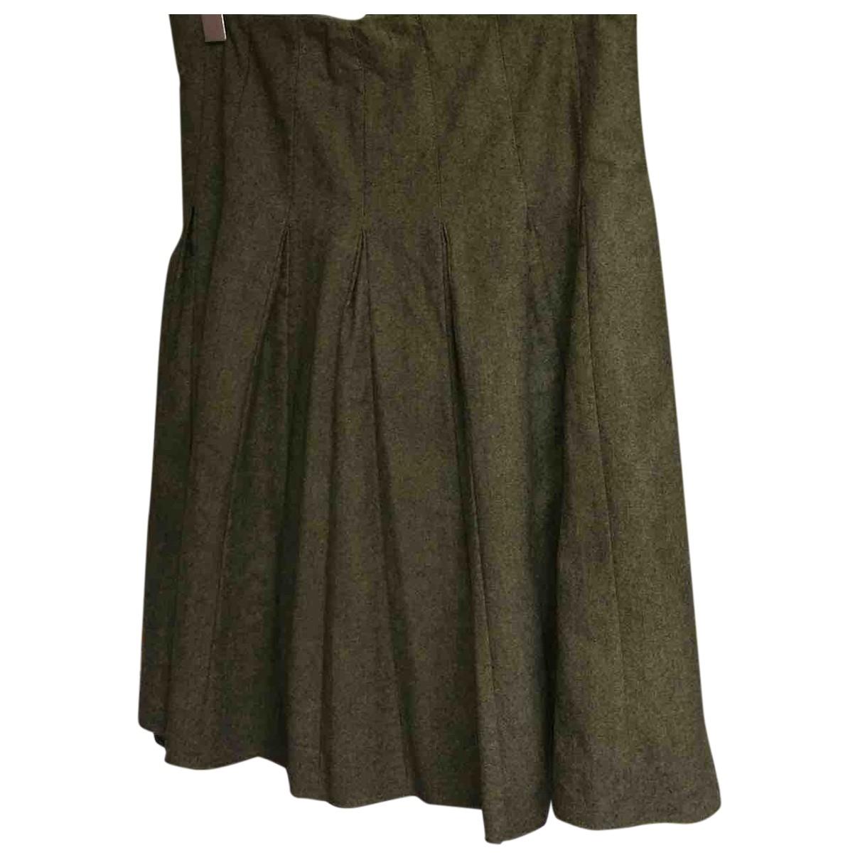Burberry - Jupe   pour femme en laine - vert