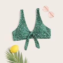 Bikini Top mit Dalmatiner Muster und Band vorn
