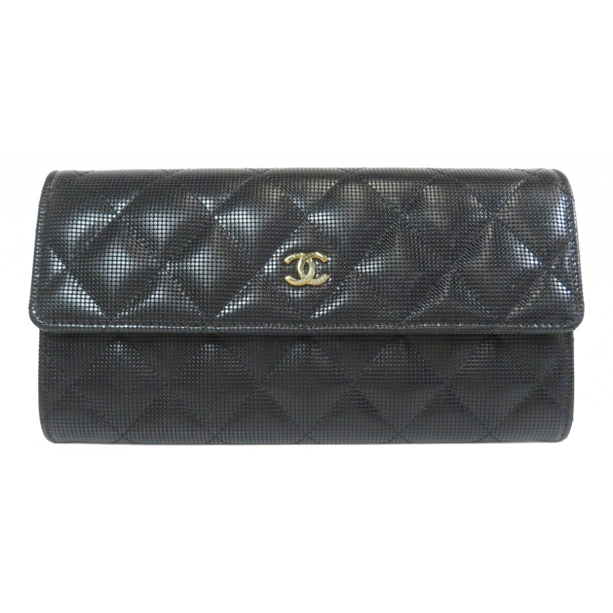 Chanel Timeless/Classique Portemonnaie in  Schwarz Leder