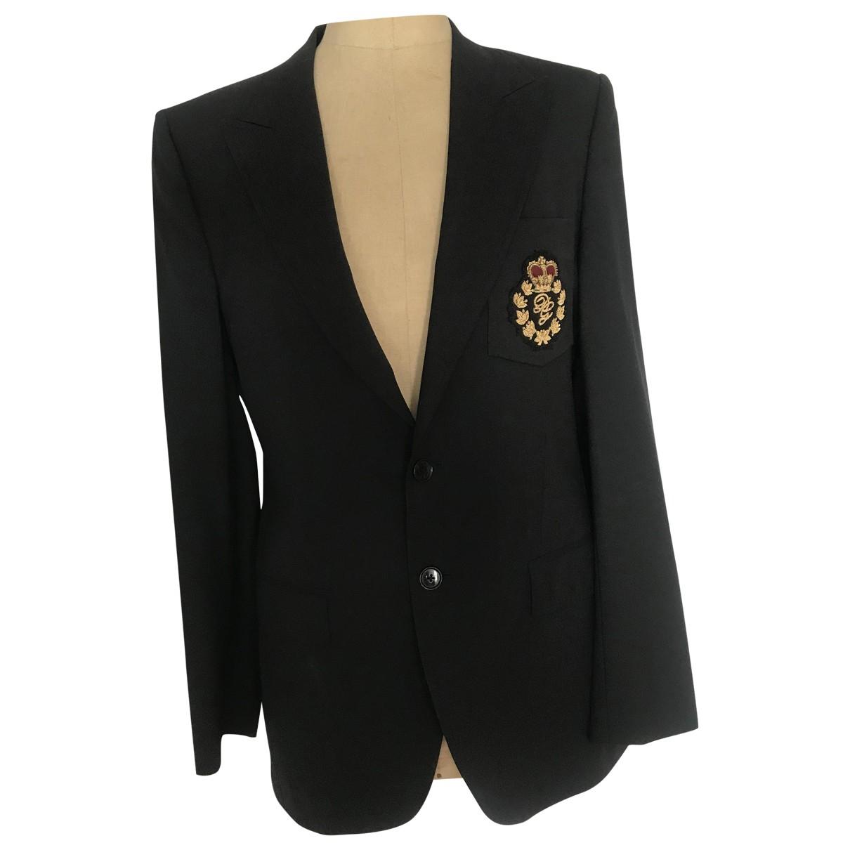 Dolce & Gabbana - Vestes.Blousons   pour homme en laine - noir