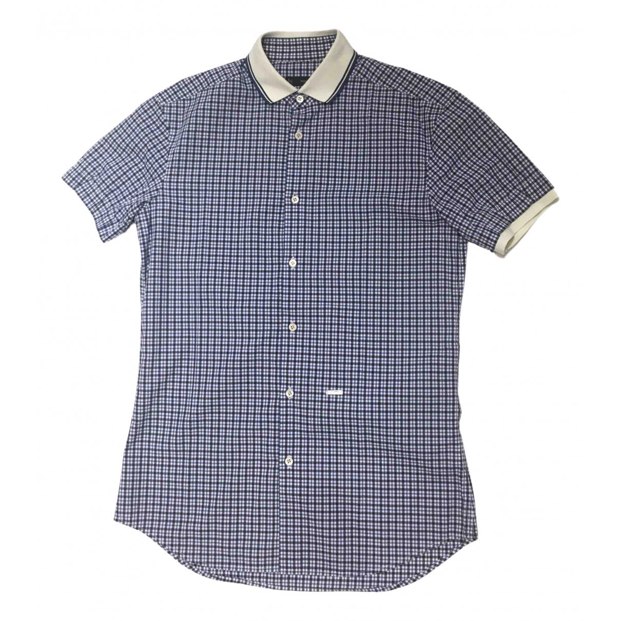 Dsquared2 \N Blue Cotton Shirts for Men M International
