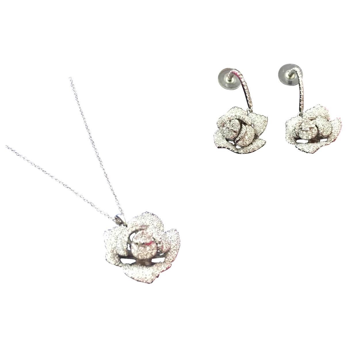 Non Signe / Unsigned Motifs Floraux Schmuck-set in  Silber Vergoldet