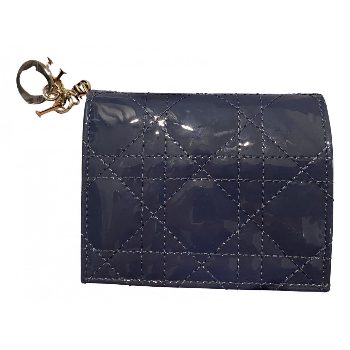 Dior - Portefeuille Lady Dior pour femme en cuir verni