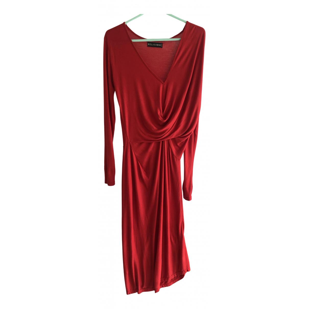 Religion \N Kleid in  Rot Viskose