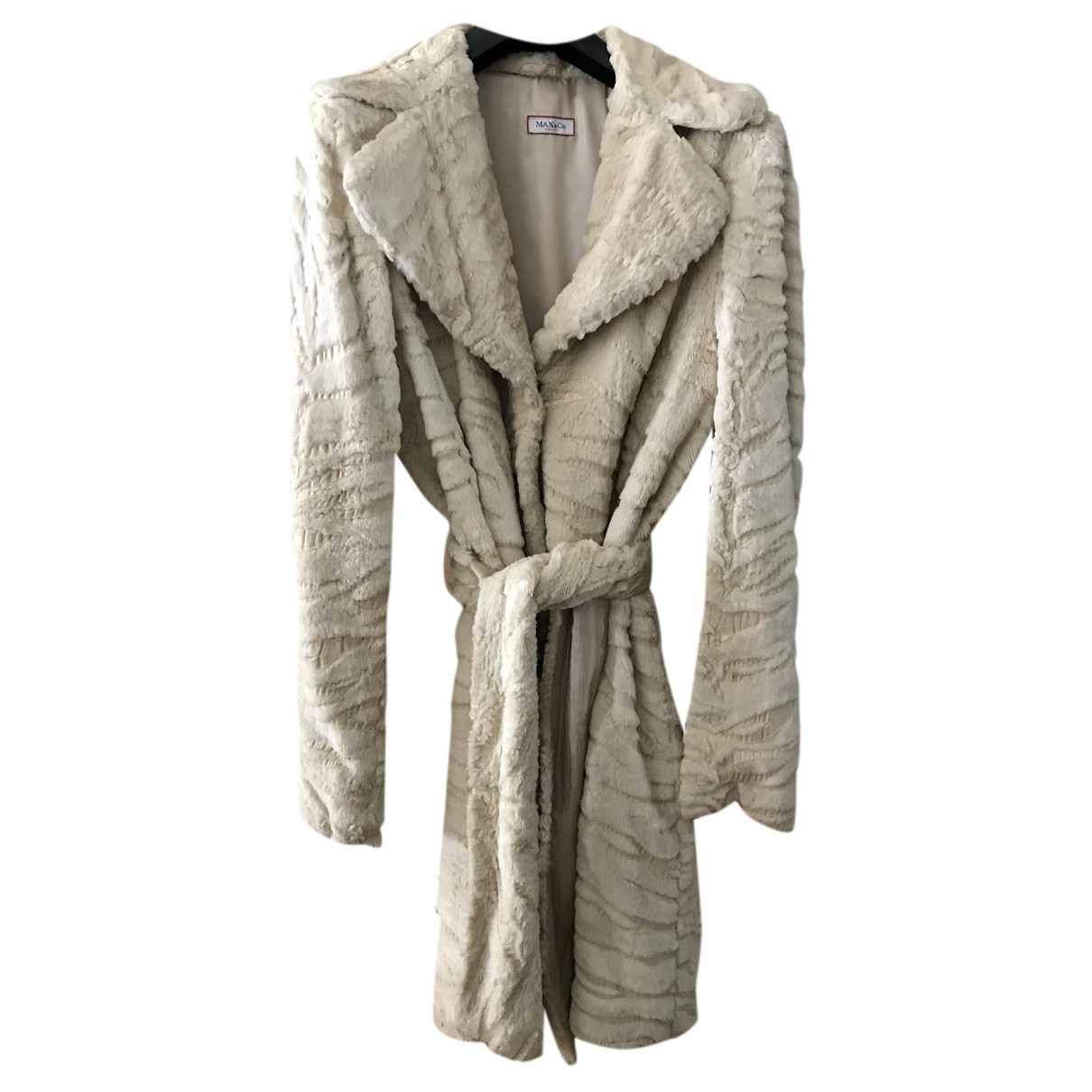 Max & Co N Beige Faux fur coat for Women 42 IT