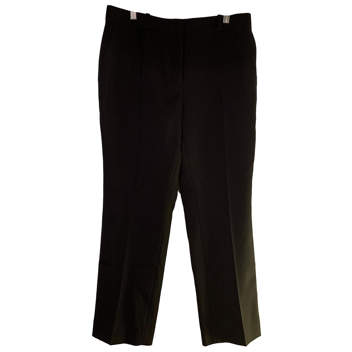 Sandro \N Black Wool Trousers for Women 40 FR