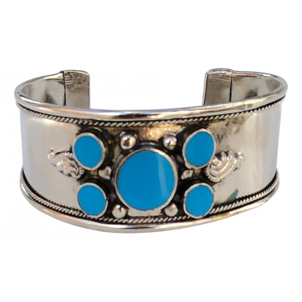 Non Signe / Unsigned Turquoises Armband in  Tuerkis Silber