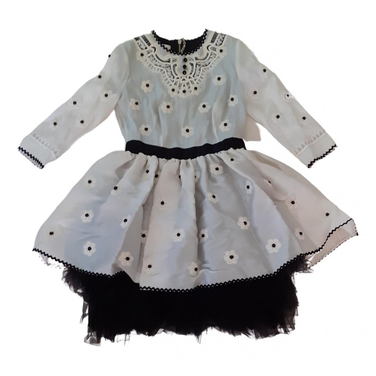 Luella - Robe   pour femme en soie - blanc