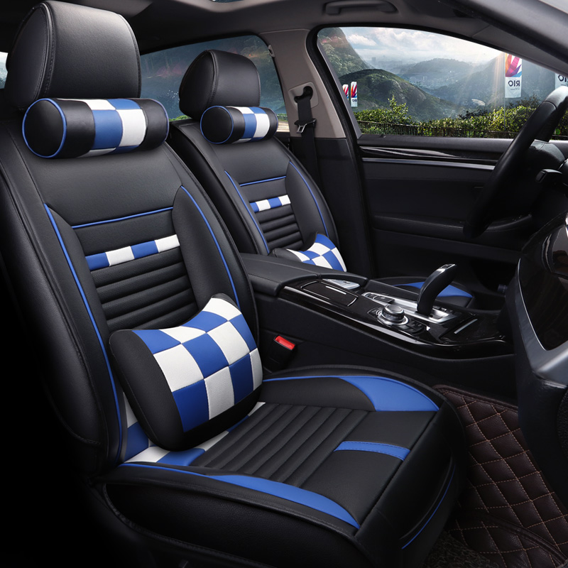 Luxury Sports Style Candy Strip Serviceable Universal Car Seat Covers