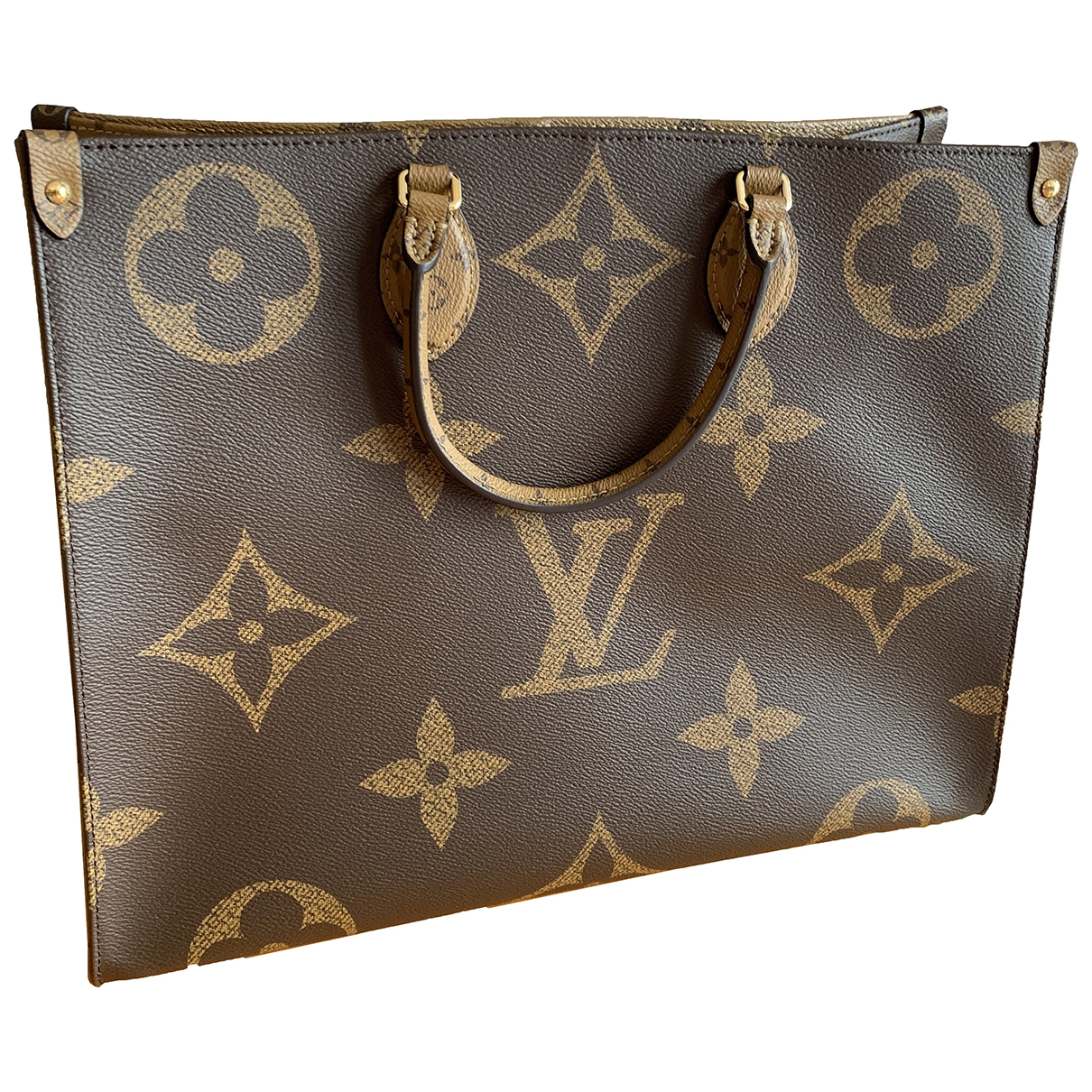 Louis Vuitton Onthego Brown Cloth handbag for Women \N