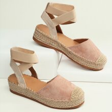 Closed Toe Ankle Strap Platform Flats