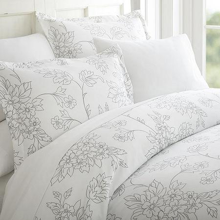Ienjoy Home Casual Comfort Premium Ultra Soft Vine Pattern Duvet Cover Set, One Size , Gray