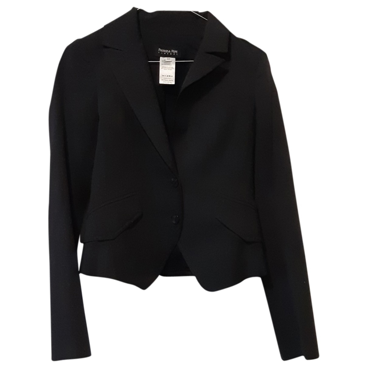 Patrizia Pepe \N Anthracite Wool jacket for Women 40 IT