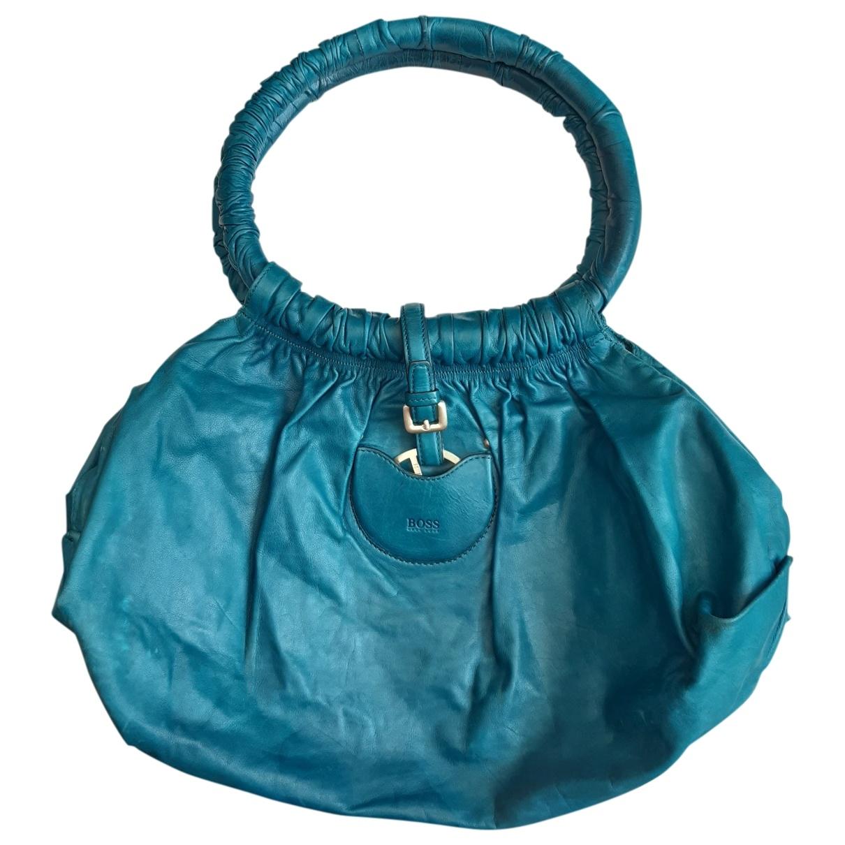 Boss \N Turquoise Leather handbag for Women \N